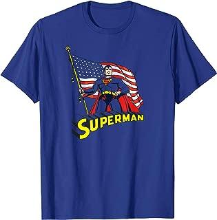 Superman American Flag T Shirt T-Shirt