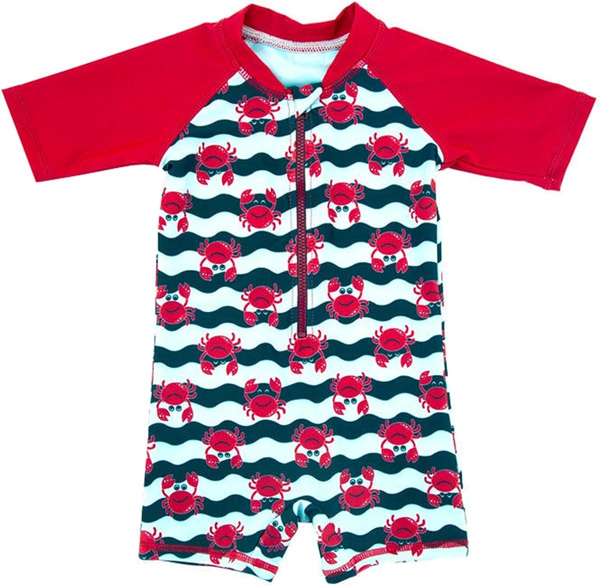 Bai You Mei Baby Toddler Boys Swim Set Kids Swimsuits Boys One Pieces UV Protective Swimwear Rash Guard