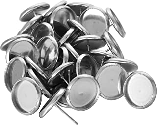 HOUSWEETY 30pcs Stainless Steel Stud Earring Cabochon Setting Post Cup Fit for 12mm