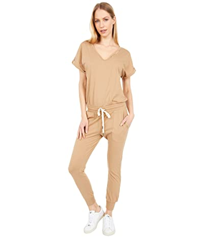 n:philanthropy Space Short Sleeve Jumpsuit (Camel) Women
