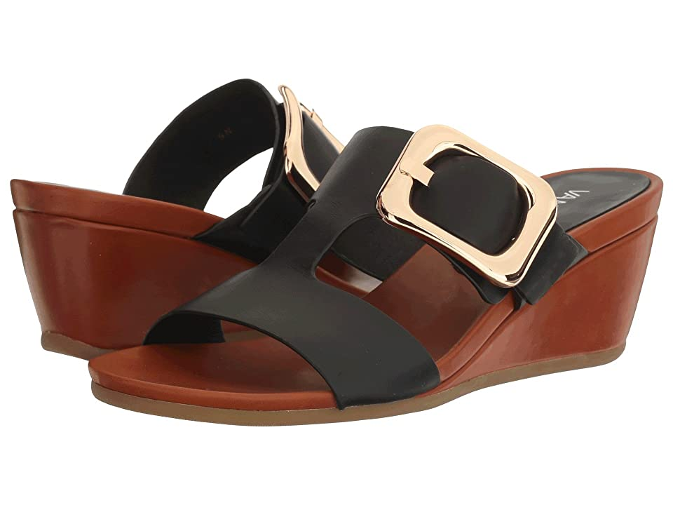 Vaneli Danel (Black Nappa/Tan Super Calf/Gold Buckle) Women
