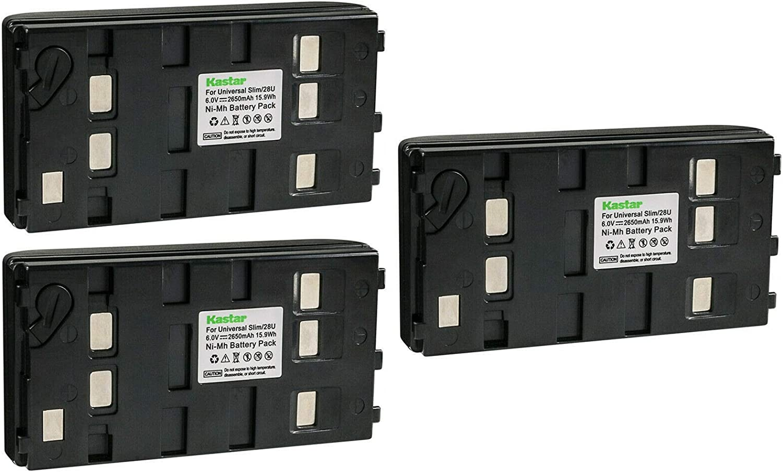 Kastar unisex 3-Pack Battery Replacement GR-SXM755U GR-SXM750US JVC Classic for