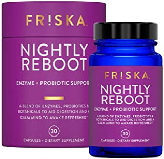 Sponsored Ad - FRISKA Nightly Reboot | Digestive Enzymes and Probiotics Supplement | Promotes Better Digestion | Natural S...