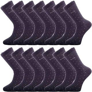 WILLIAM & EDWARDS, Paquete de 14 pares de calcetines de algodón de lujo transpirables e inteligentes para hombres - Calcetines respetuosos con el medio ambiente de algodón reciclado