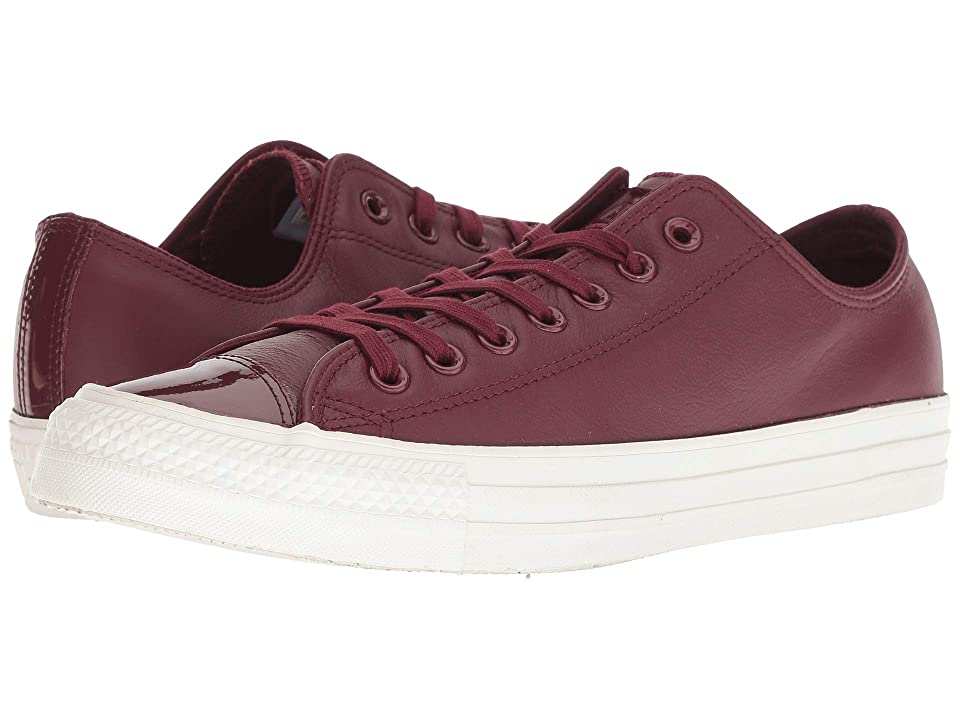 Converse Chuck Taylor All Star Leather Ox (Dark Burgundy/Dark Burgundy) Lace up casual Shoes