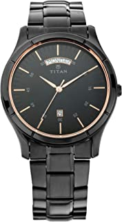 Titan All Black Analog Dial Men's Watch-1767NM01
