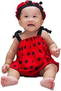 I-fame Infant Unisex Baby Fancy Ladybug Costume 100% Cotton (Ladybug M, 7 - 15 Months)