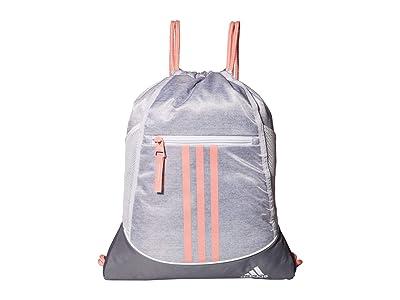 adidas Alliance II Sackpack (Jersey White/Glory Pink/Grey) Backpack Bags