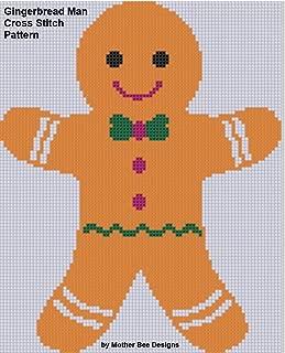 cross stitch pattern for gingerbread man