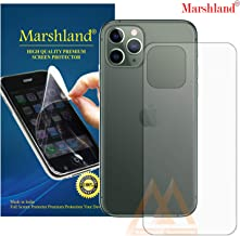 MARSHLAND Back Screen Protector Flexible Design Anti Scratch Bubble Free TPU Back Screen Guard Compatible for iPhone 11 Pro (5.8, Transparent)