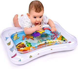 Adorable Tummy Time Floor Mat for Infants | Colorful & Fun Inflatable Baby Water Mat | Leakproof PVC Water Filled Playmat for Newborns | Engaging & Stimulating Vibrant Play Activity Center | Unisex