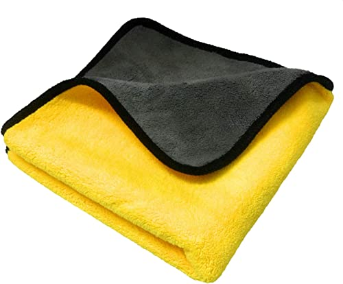 SOBBY Microfiber Cloth for Car Cleaning and detailing | Dual Sided, Extra Thick Plush Microfiber Towel Lint-free, 800...