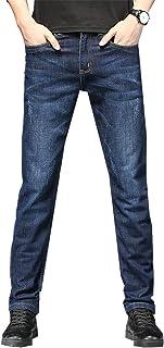 Heren hoge taille rechte pijpen slim fit losse comfortabele stretch zomer dunne vrijetijdsbroek, met zak
