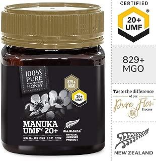 Pure New Zealand UMF 20+ Raw Manuka Honey - All Blacks Official Licensed - 8.8 oz / 250g