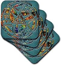 3dRose CST_108090_2 Designer One of a Kind Native American Art Soft Coaster (Set of 8)