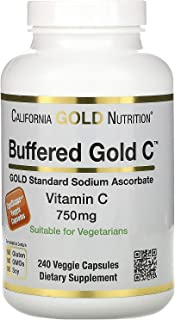 California Gold Nutrition Buffered Vitamin C Capsules, 750 mg, 240 Veggie Capsules