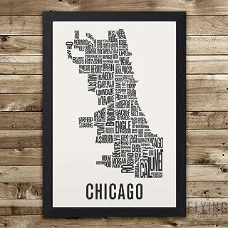 Chicago Neighborhood Map Print