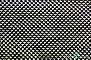 Black Small Hole Fishnet Mesh Fabric 2 Way Stretch Polyester Spandex 54-56