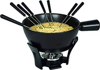 BOSKA Nero Large Cheese Fondue Set, 2.2 Liters, Black
