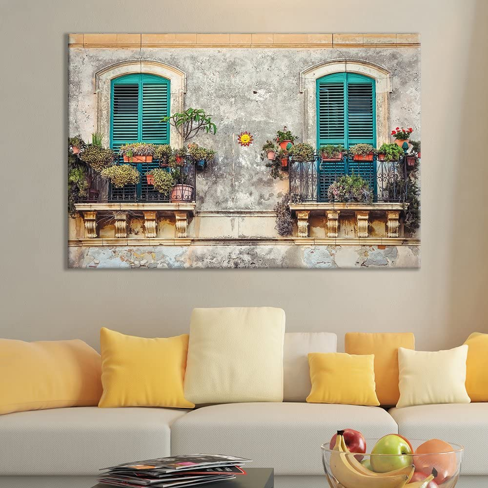 Canvas Wall Art Opening large release sale of Aqua French NEW GardenItaly x Door 32