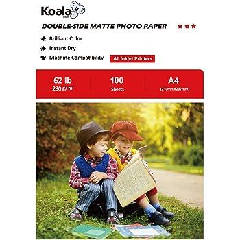 260 g//m/² Pripa asciugatura rapida carta fotografica InkJet impermeabile brillante carta lucida formato A4 per stampanti a getto dinchiostro 40 fogli doppio lato