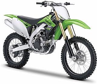 Maisto Kawasaki KX 450F: Originalgetreues Motorradmodell 1:12, mit beweglichem Ständer, Hinterrad-Federung und frei rollenden Rädern, grün 531175