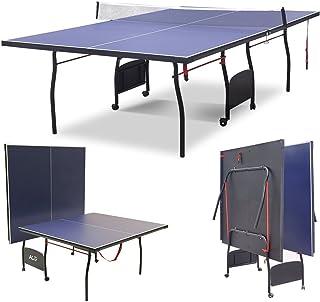 HLC Mesa de Pingpong, Plegable y Ajustable, con Ruedas Modelo?274 * 152.5 * 76cm