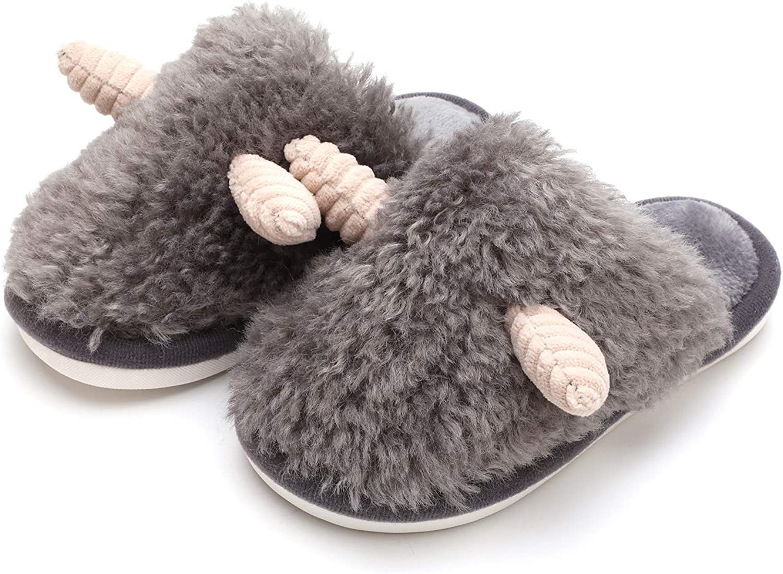 MEMON Boys Animal Slippers Excellence Fees free!! Fuzzy Girls Fluffy Kids