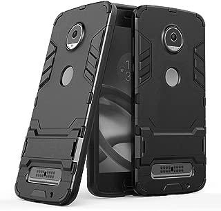 Custodia Per Moto Z2 Play Protezione Telaio In Pelle Cover Nero