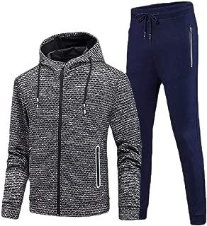 Mens Outwears Zipper Up Sweatpants Hood Sport Tracksuit Set