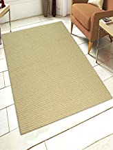 Saral Home Mini Check Jute Carpet with Rubber Latex (Green, 120X180 Cms)