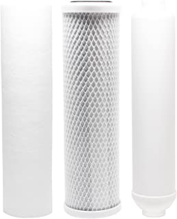 Replacement Filter Kit Compatible with Rainfresh RO450/RO450M RO System - Includes Carbon Block Filter, PP Sediment Filter & Inline Filter Cartridge - Denali Pure Brand