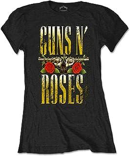 GUNS N ROSES ガンズアンドローゼズ BIG GUNS/Tシャツ/レディース 【公式/オフィシャル】