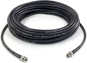 Custom Cable Connection 50 Foot Belden 1694A 6G HD-SDI RG6 BNC Cable (75 Ohm) Black Jacket