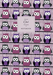 Owl Notebook - Lined Pages - A4 - Premium: (Purple Edition) Fun Notebook 192 lined pages (A4 / 8.27x11.69 inches / 21x29.7cm)