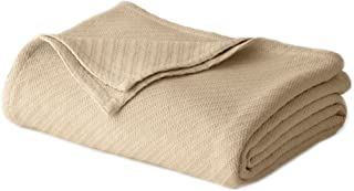 COTTON CRAFT - 100% Soft Premium Cotton Thermal Blanket - Full/Queen Beige - Snuggle in These Super Soft Cozy Cotton Blankets - Perfect for Layering Any Bed - Provides Comfort and Warmth for Years
