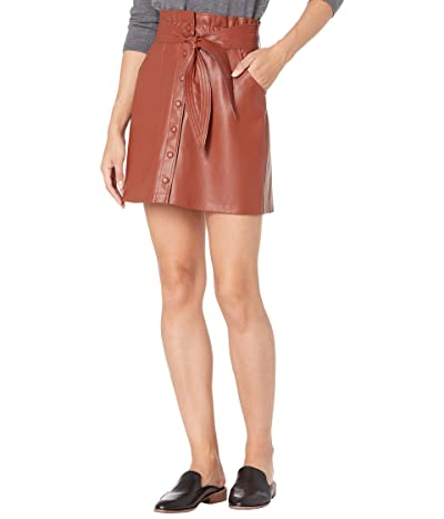 BB Dakota x Steve Madden Belt So Real Skirt (Rust) Women