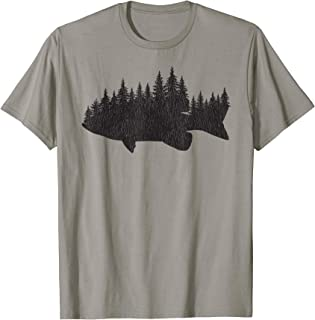 Bass Fishing Forest TShirt - Largemouth Fisherman Gift