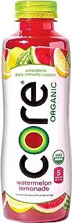 Core Organic CORE Organic, Watermelon Lemonade, 18 Fl Oz (Pack of 12), Fruit Infused Beverage, Vegan/Gluten-Free, Non-GMO,...