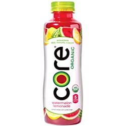 CORE Organic Watermelon Lemonade Fruit Infused Beverage, 18 Fluid Ounce Bottle