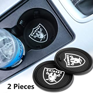 2 Pack 2.75 inch for Oakland Raiders Car Interior Accessories Anti Slip Cup Mat for All Vehicles (for Oakland Raiders)