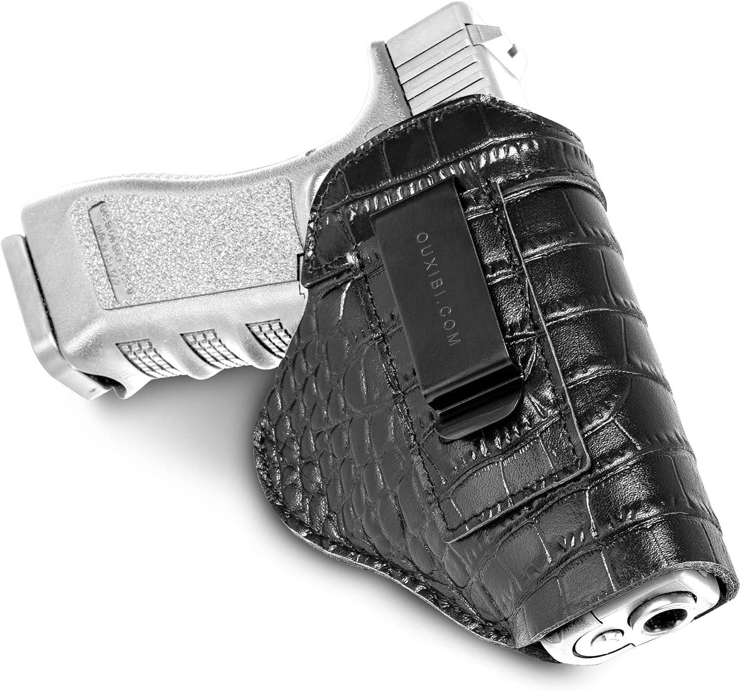 Popular popular Leather Gun Holster - Crocodile Embossed fo Wrap Handgun Conceal Outstanding