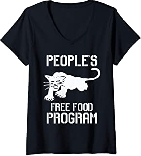 Womens People's free food program T shirt V-Neck T-Shirt