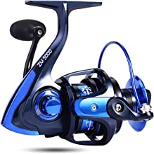 trout boy Spinning Fishing Reel -Unique Main Body, T6 Doluble Anodized Aluminum Spool,13+1 Double Shielded Stainless Steel Ball Bearings, Free Spare Graphite Spool