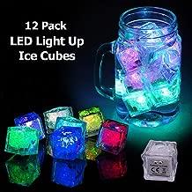 12 Pcs Party Decorative LED Ice Cubes Light Multi-Color Liquid Sensor Ice Cubes Light LED Glow Light Drinking Wine Wedding Party Decoration, Multicolor, Set Pack of 12.