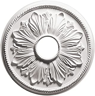Focal Point 81624 24-Inch Renaissance Medallion 23 7/8-Inch by 23 7/8-Inch by 1 1/8-Inch, Primed White