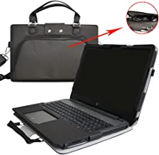 HP Notebook 17 Case,2 in 1 Accurately Designed Protective PU Case + Portable Carrying Bag for 17.3