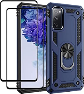 EasyLifeGo for Galaxy S20 FE/Galaxy S20 FE 5G / Samsung S20 Lite Kickstand Case with Screen Protector Tempered Glass [2 pi...
