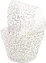 GOLF 100Pcs Cupcake Wrappers Artistic Bake Cake Paper Filigree Little Vine Lace Laser Cut Liner Baking Cup Wraps Muffin Ca...