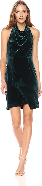 Betsey Johnson Womens Women's Sleeveless Velvet Mock Neck Dress Casual Dress